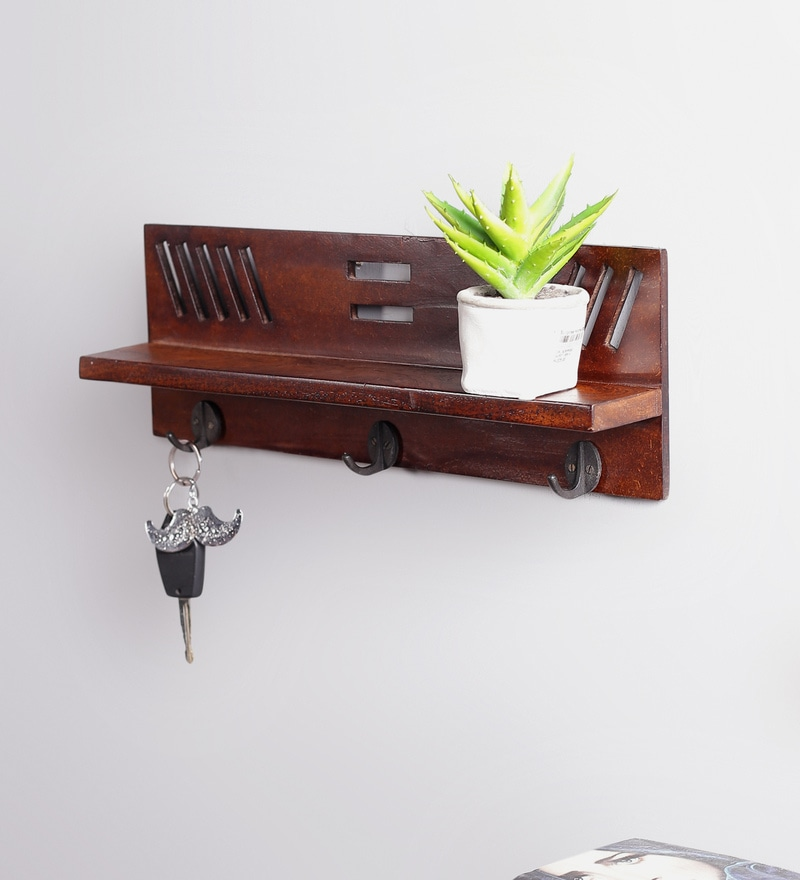 Brown Wood & MDF Easy Key Holder by La Stella