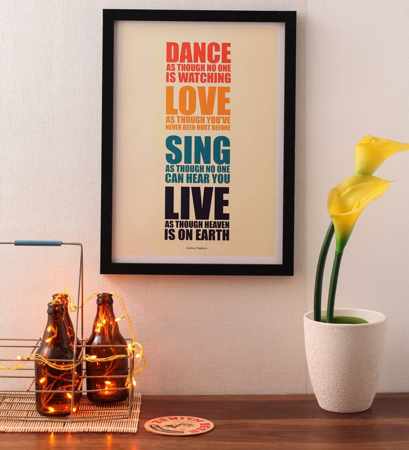 Paper & PU Frame 13 x 0.7 x 17.5 Inch Live Quotes Framed Poster by Lab No.4 - The Quotography Department