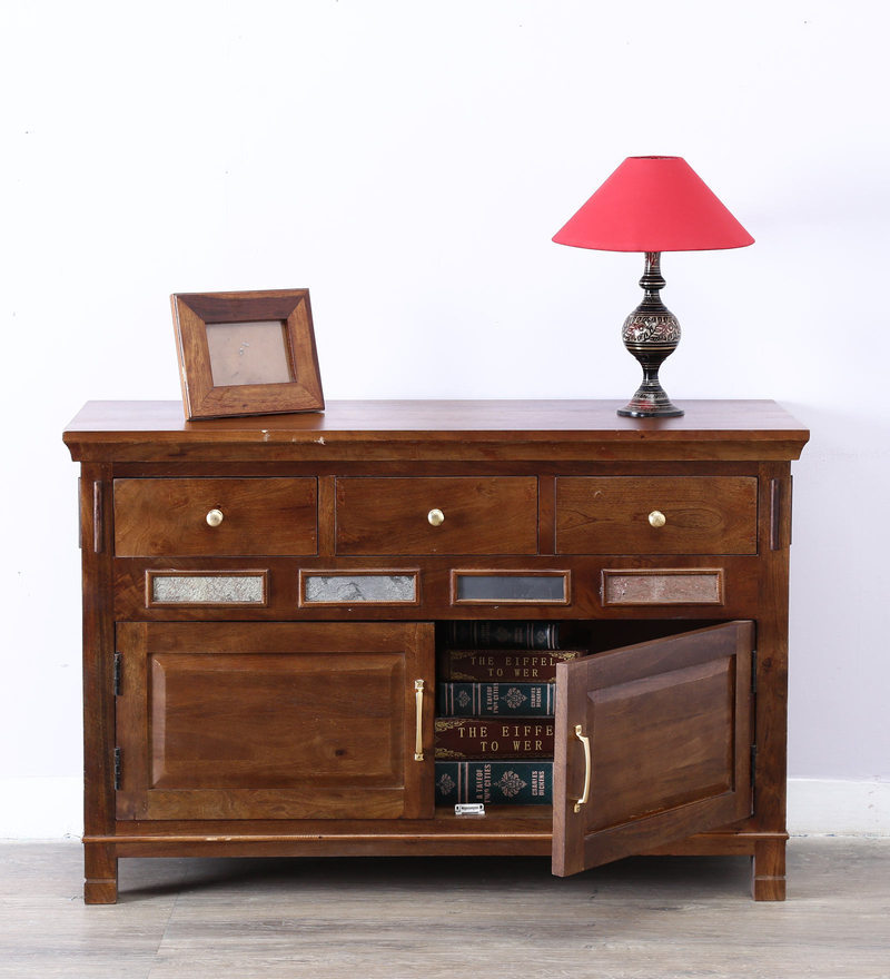 Lanford Cabinet in Provincial Teak Finish by Amberville