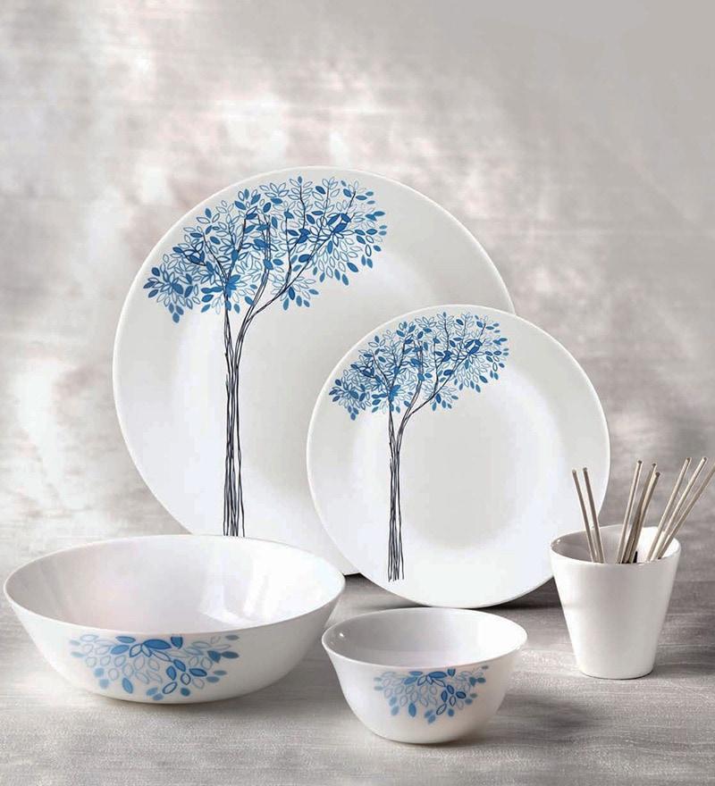 Laopala Ivory Turquoise Dream Dinner Set - Set of 35 by La