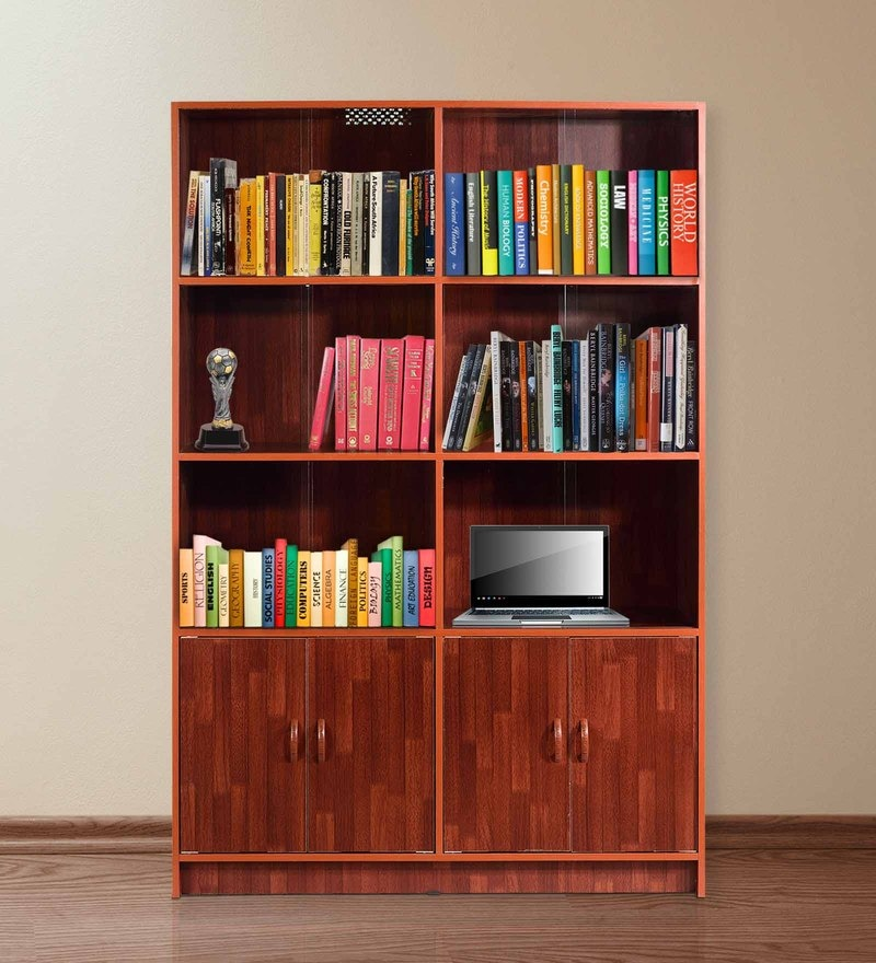 Large Size Book Case cum Filing Cabinet in Wenge Finish by Essance