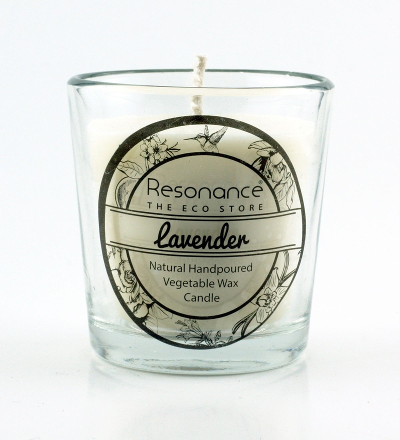 Lavender Fragrance Natural Wax Aroma Votive Scented Candle by Resonance