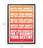 Lab No.4 - The Quotography Department Paper & PU Frame 11.9 x 16.7 Inch Lao Tzu Life Quote Paper Framed poster