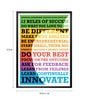 Paper & PU Frame 13 x 1 x 17.5 Inch Business Leadership Lessons From Steve Jobs Quote Framed Poster by Lab No.4 - The Quotography Department