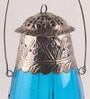 Blue Glass Tea Light Holder by Gupta Glass Gallery