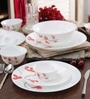 Diva Cherry Petal Opalware Dinner Set - Set of 27 by La Opala