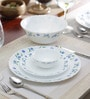 Diva Juniper Blue Opalware Dinner Set - Set of 19 by La Opala