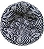Organic Pouffe in Black & White Colour by Reme