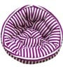 ORGANIC COTTON Lap Pouffe in Purple & White Colour by Reme