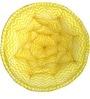 ORGANIC COTTON Lap Pouffe in Yellow & White Colour by Reme