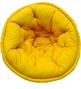 Organic Pouffe in Yellow Colour by Reme