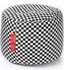 Checkered Round Shaped Large Pouffe in Multicolour by Style HomeZ