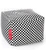 Large Cotton Canvas Checkered Design Square Ottoman Cover by Style Homez