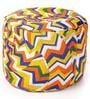 Large Cotton Round Ottoman Cover in Polka Dots Design by Style Homez