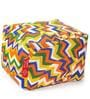 Large Cotton Canvas Geometric Design Square Ottoman Cover by Style Homez
