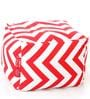 Large Cotton Canvas Striped (Square Shaped) Ottoman Cover Only by Style Homez