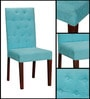 Ballans Button Chair in Aqua Blue Color by Amberville