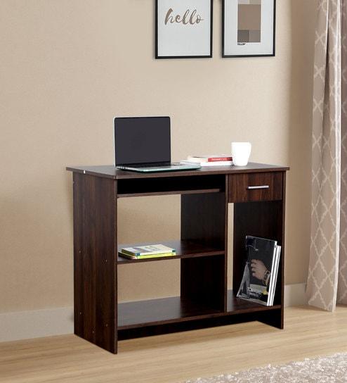Lewis Promo Computer Desk In Walnut, Walnut Computer Desk