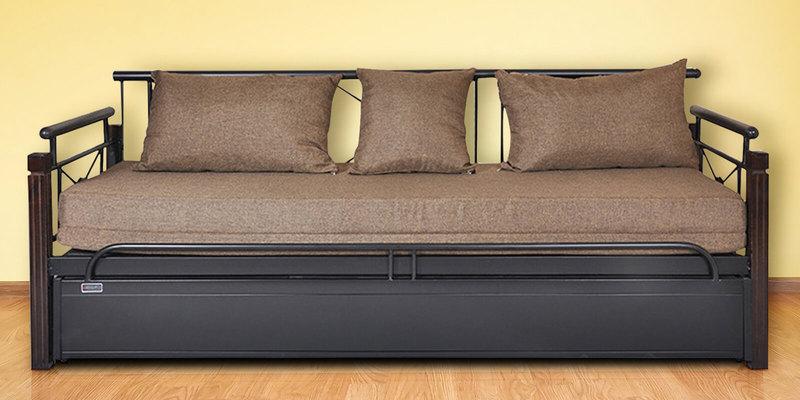 Venice Leisure Metallic Sofa Cum Bed with Storage by FurnitureKraft