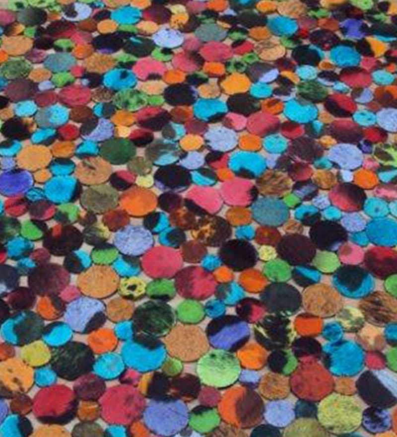 Multicolored leather carpet with circular design by lthr for Diwan name wallpaper