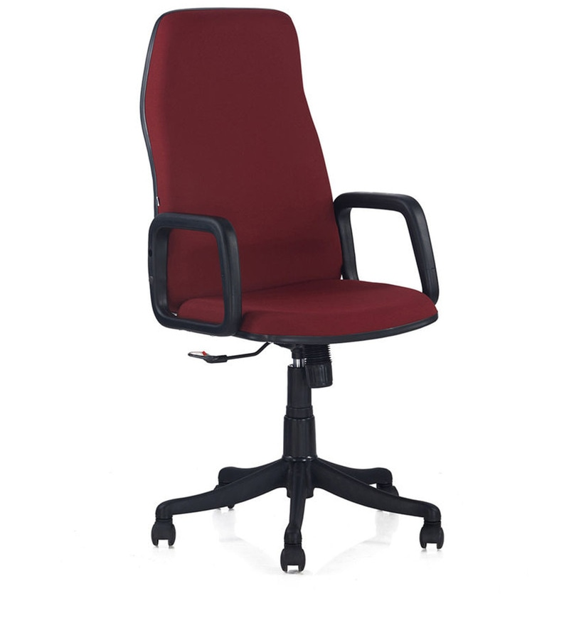 Lead High Back Executive Chair in Maroon Colour by Nilkamal