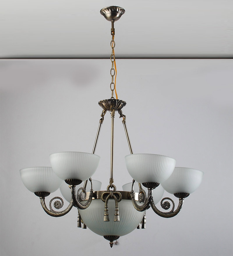 Antique Brass Finish Chandelier CH147 by LeArc Designer Lighting