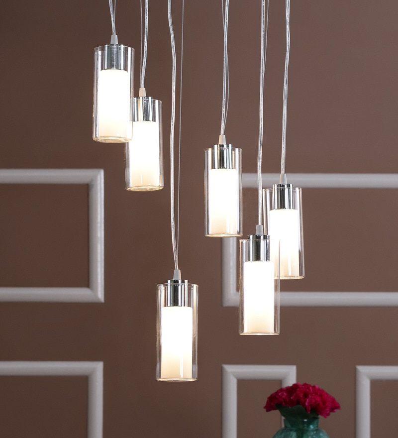 Glass Metal Pendent Multiples HL3868-6 by LeArc Designer Lighting