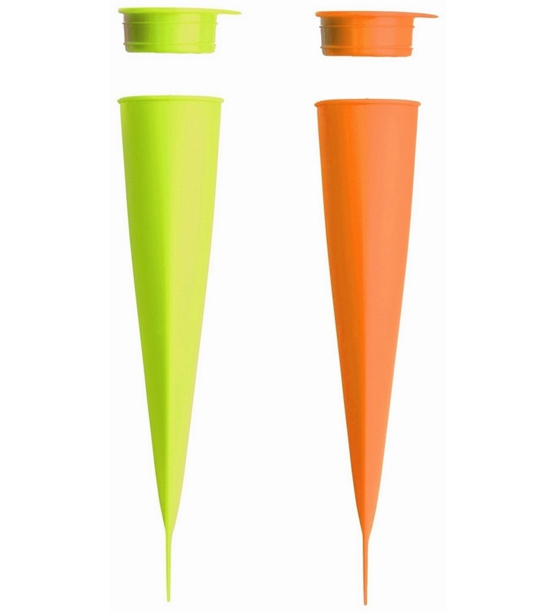 Lekue Green & Orange Silicone Ice Cream Mould Polybag - Set of 2