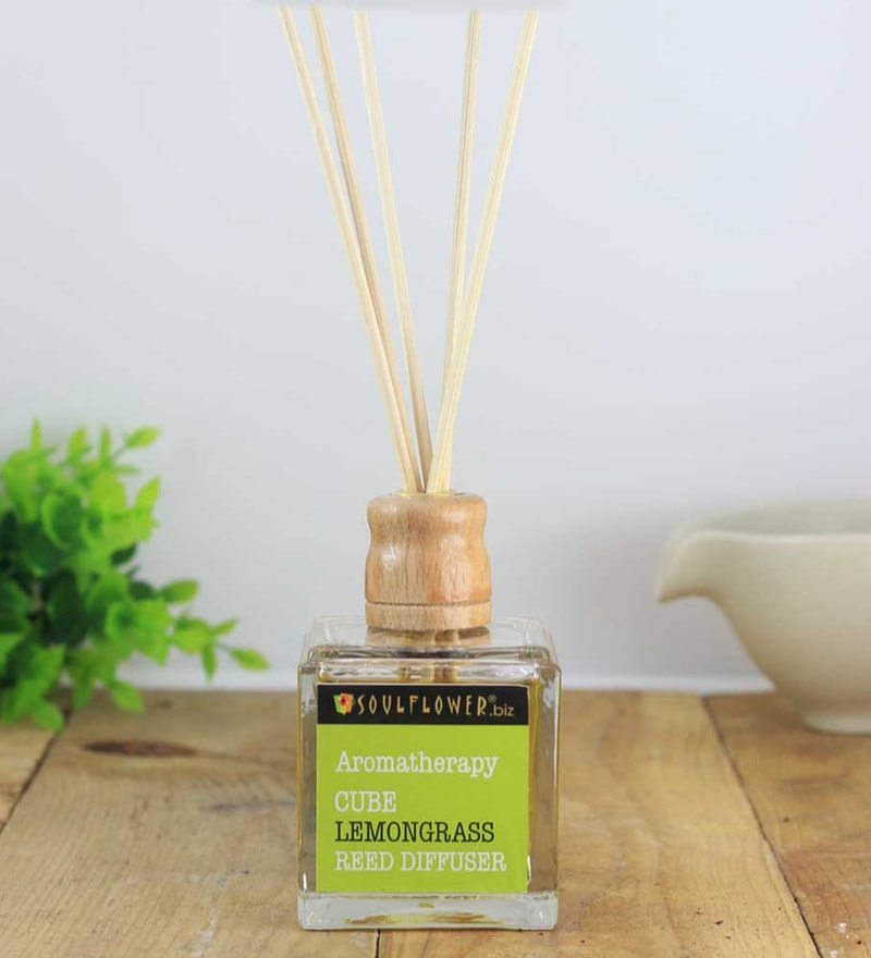 Lemongrass Cube Reed Diffuser by SoulFlower