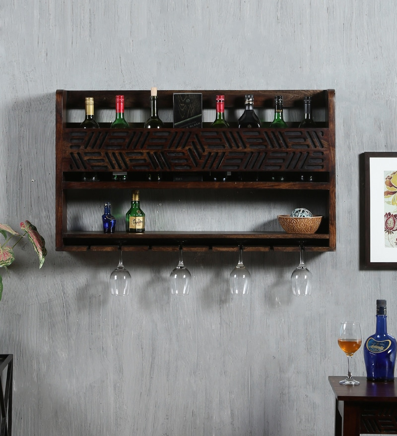 Lerro Wine rack in Warm chestnut Finish by Woodsworth