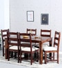 Lyndon Six Seater Dining Set in Provincial Teak Finish by Woodsworth