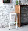 Mehia Bar Stool in Off White Colour by Bohemiana