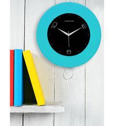 Light Blue MDF 12 X 12 Inch Wall Clock