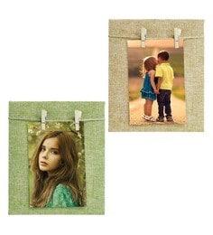 Light Green & Light Brown Wood Collage Picture Frames