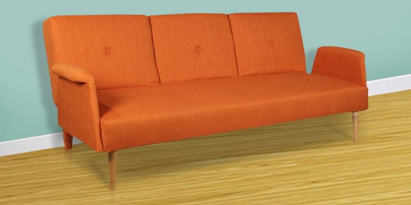 Liana Sofa cum Bed in Orange Colour by HomeTown