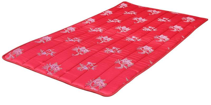 Lite Mat Plus Multi-Purpose Foam Single Mattress (Pack of 2) in Red Colour by Kurl-On