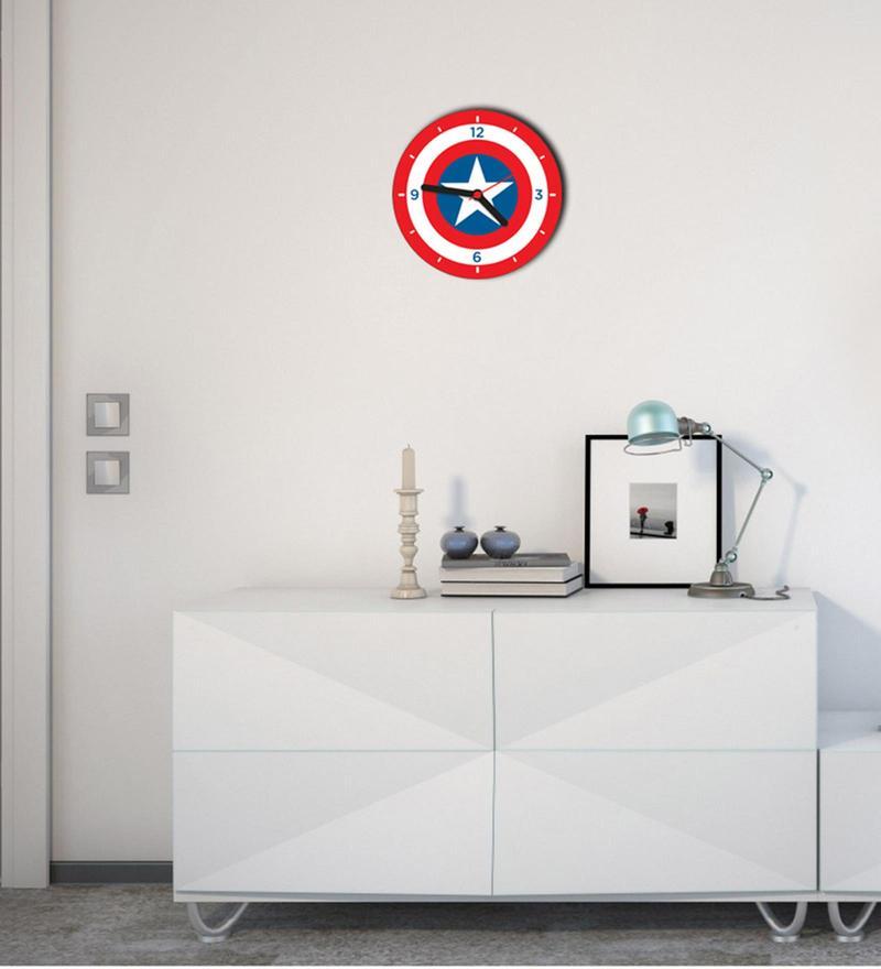 Licensed Captain America Digital Printed Analog Wall Clock by Orka