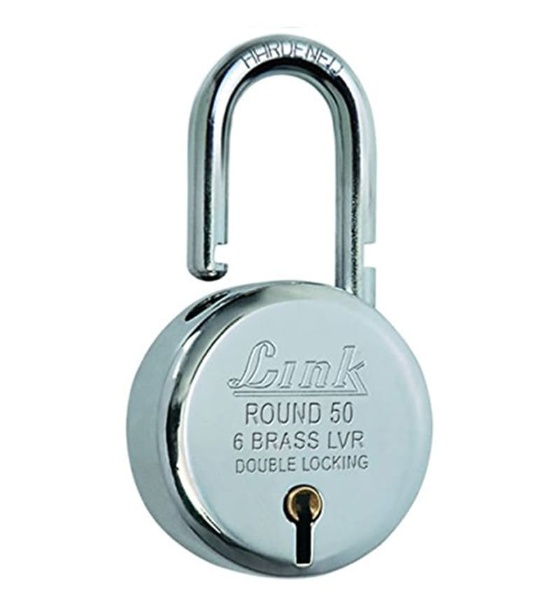 Link 50 mm Steel Chrome Plated Padlock