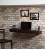 Winlock Wall Shelf cum Study Table in Provincial Teak Finish by Woodsworth