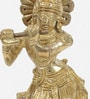 Brass Antique Pure Lord Krishna Pooja Idol by Little India