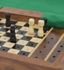 Brown Wooden Travellers Mini Chess Board Handicraft by Little India