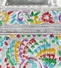 Silver Metal Rajasthani Meenakari Design Attractive Pen Stand by Little India