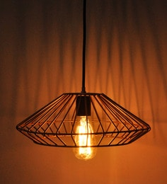 Hanging lights buy hanging lights online in india at best prices gold metal vintage cage ceiling light aloadofball Image collections