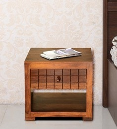 Lorenzo Bedside Table In Warm Rich Finish By Woodsworth
