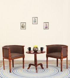 Louis Coffee Table Set In  Honey Oak Finish