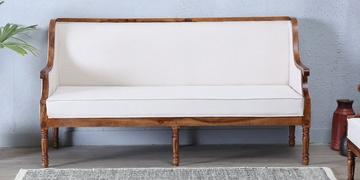 Louis Three Seater Sofa In Provincial Teak Finish