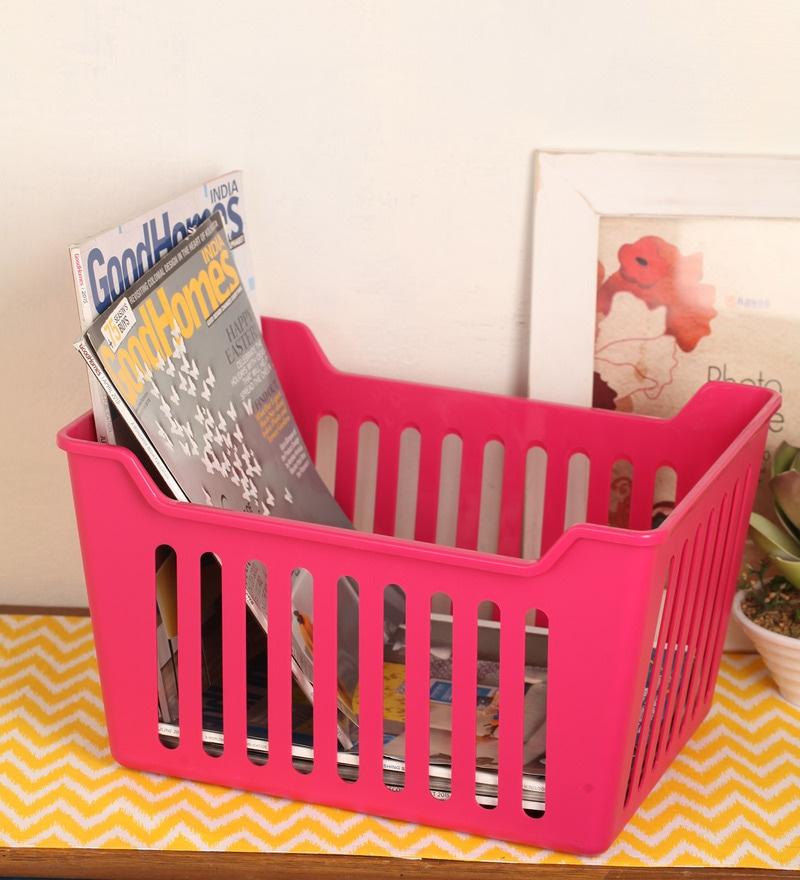 Lock&Lock Plastic Pink 10 L Paper Basket