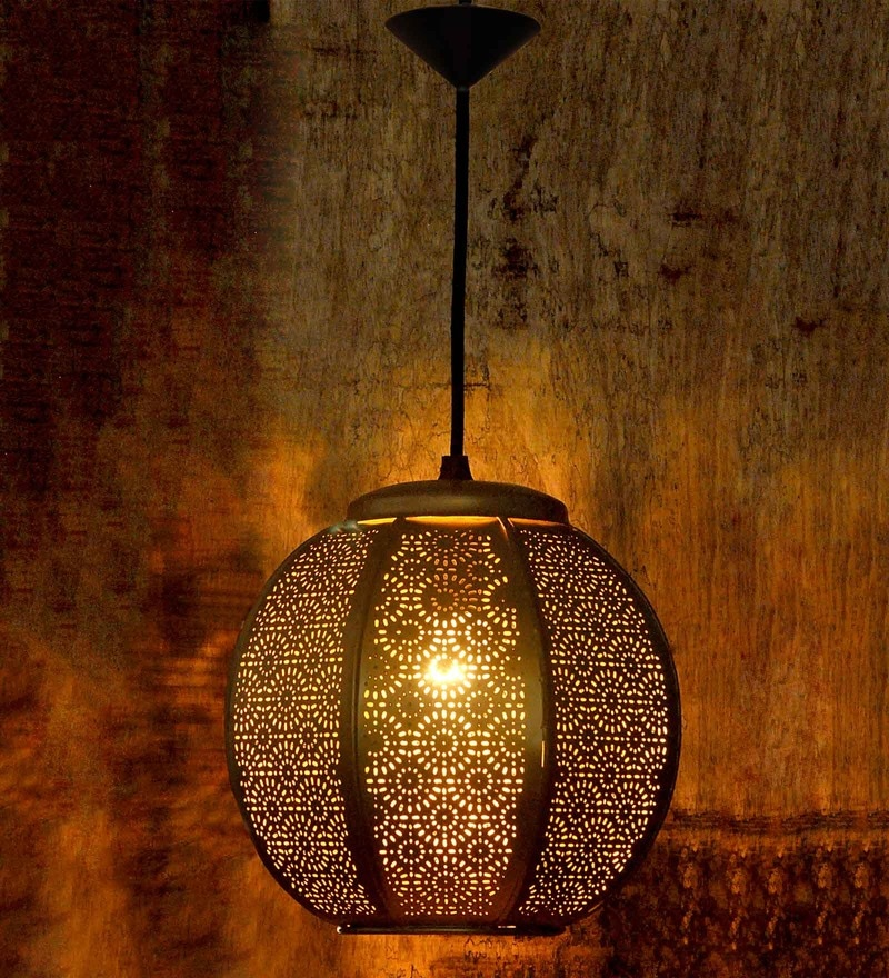 Ajoure Goldenn Metal Ceiling Lamp by Logam