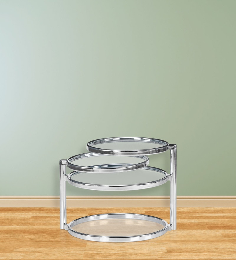 Lorena with Four Ring Glass Center Table Finish by @ Home