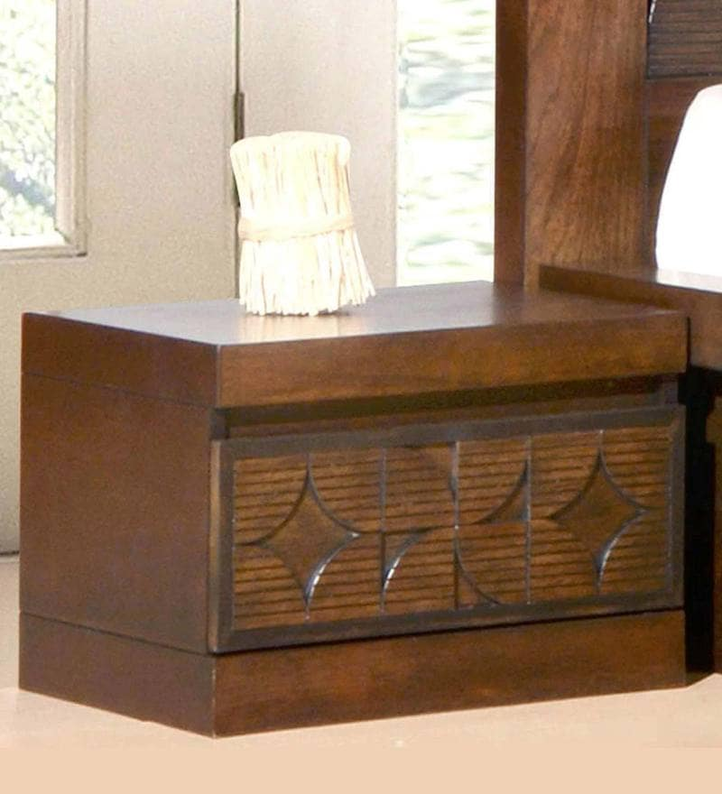 Lorita Bed Side Table in Amelia Oak Finish by CasaCraft